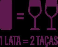 1 Lata = 2 Taças